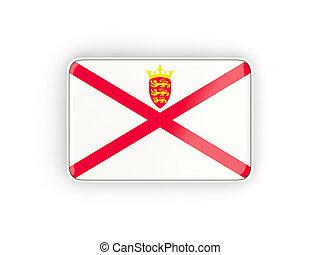 Flag of jersey, rectangular icon
