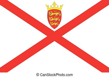 Flag of Jersey. Vector Format