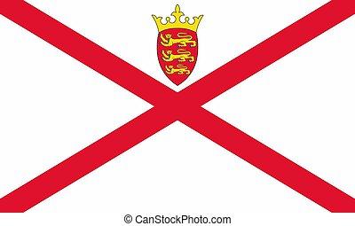 Flag of Jersey vector illustration