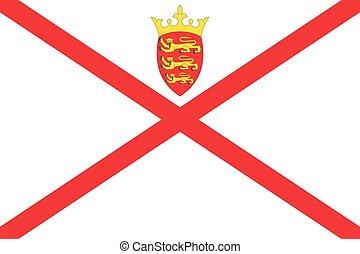 Flag of Jersey. Vector illustration eps 10