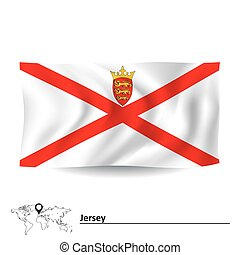 Flag of Jersey - vector illustration