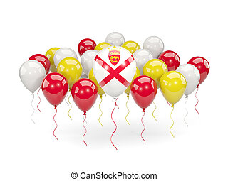 Flag of jersey with balloons