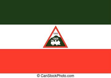 Flag of Joao Neiva, Brazil. Vector Format