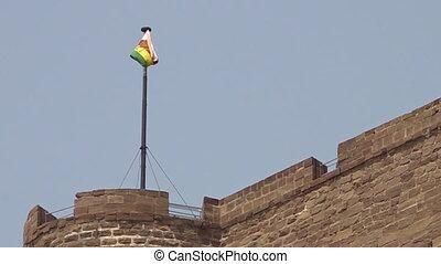 Flag of Jodhpur above Mehrangarh Fort - The Jodhpur Flag...