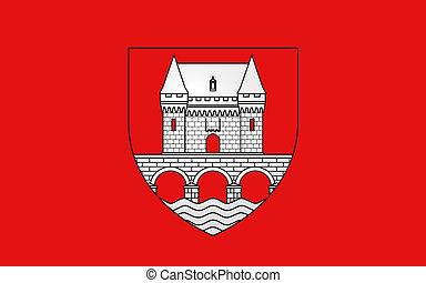 Flag of Jonzac, France - Flag of Jonzac is a commune of the...