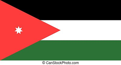 Flag of Jordan in correct proportions and colors