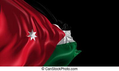 Flag of Jordan - Beautiful 3d animation of Jordan flag with...