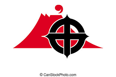 Flag of Kagoshima is the capital city of Kagoshima Prefecture, Japan