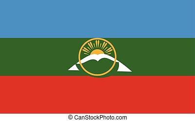 Flag of Karachay Cherkessia - Karachay Cherkessia flag...