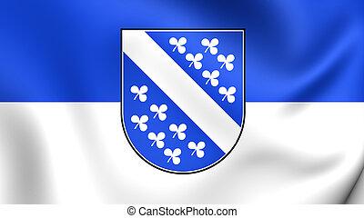 Flag of Kassel City (Hesse), Germany. - 3D Flag of Kassel...