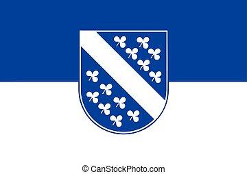 Flag of Kassel, Germany. Vector Format.