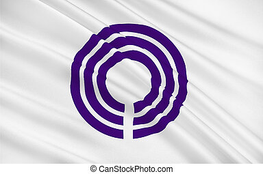 Flag of Kawasaki is a city in Kanagawa Prefecture, Japan