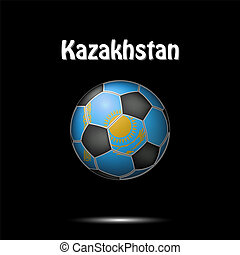 Flag of Kazakhstan in the form of a soccer ball