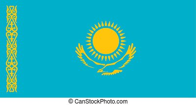 Flag of Kazakhstan official colors and proportions