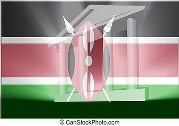 Flag of Kenya government - Flag of Kenya, national country...
