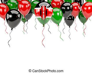 Flag of kenya on balloons - Flag of kenya, with balloons...