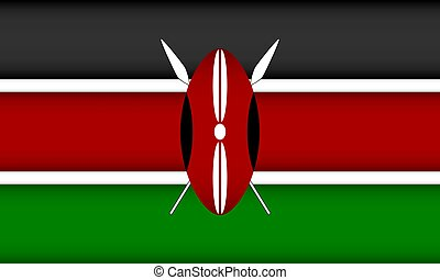 Flag of Kenya.
