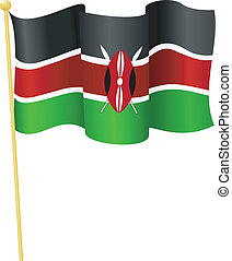 flag of   Kenya. vector