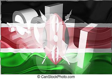 Flag of Kenya wavy education - Flag of Kenya, national...