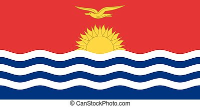 Flag of Kiribati in correct size and color, vector