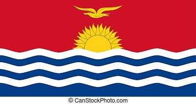 Kiribati vector flag. National symbol of Kiribati