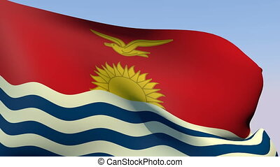 Flag of Kiribati - Flags of the world collection - Kiribati