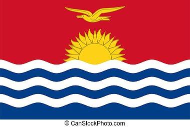Flag of Kiribati. Vector.