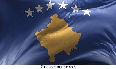 Flag of Kosovo Loop 3D