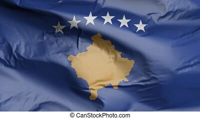 Flag of Kosovo Realistic 3D