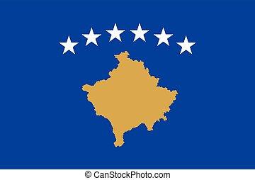 Flag of Kosovo. Vector Format