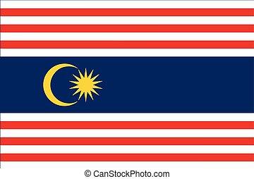 Flag of Kuala Lumpur. Malaysia. Vector Format