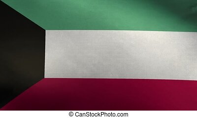 Flag of Kuwait 3D Loop