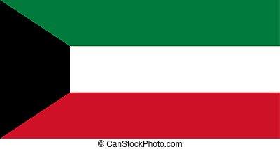Kuwait vector flag. National symbol of Kuwait