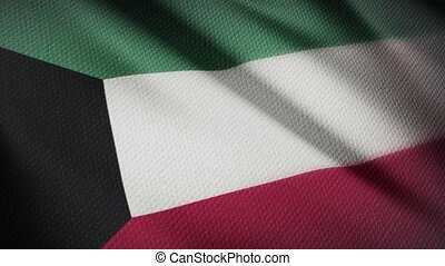 Flag of Kuwait Realistic 3D