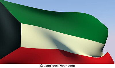 Flag of Kuwait - Flags of the world collection - Kuwait