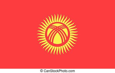 Flag of Kyrgyzstan in correct size, colors, vector