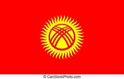 Kyrgyzstan vector flag. National symbol of Kyrgyzstan