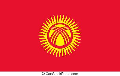 Flag of Kyrgyzstan official colors and proportions