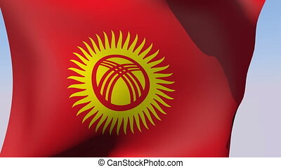 Flag of Kyrgyzstan - Flags of the world collection -...