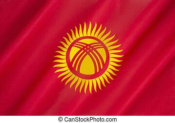 Flag of Kyrgyzstan - Flag of The Republic of Kyrgyzstan -...