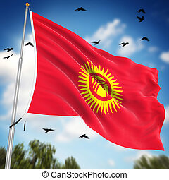 Flag of Kyrgyzstan