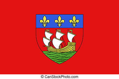 Flag of La Rochelle, France - Flag of La Rochelle is a city...
