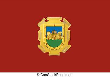 Flag of La Serena, Chile. Vector Format