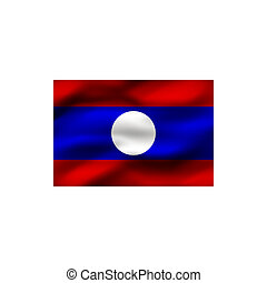 Flag of Laos.
