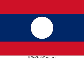 Laos vector flag. National symbol of Laos