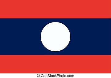 Flag of Laos. Vector illustration. World flag