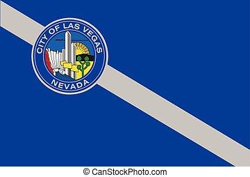 Flag of Las Vegas, Nevada, USA. Vector Format