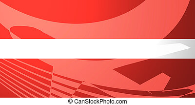 Flag of Latvia air travel illustration - Airplane image...