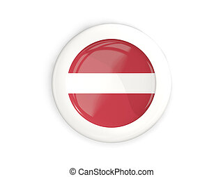 Flag of latvia, glossy round button