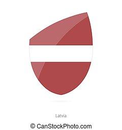 Flag of Latvia. Latvian Rugby flag.